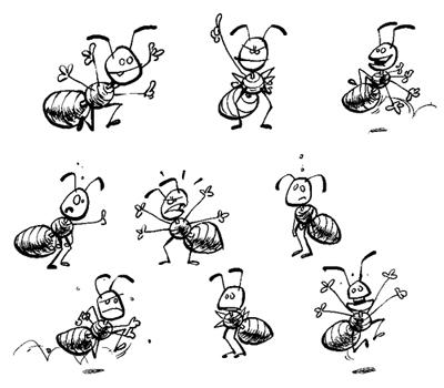 Maret le miblog - Dessin de fourmi ...